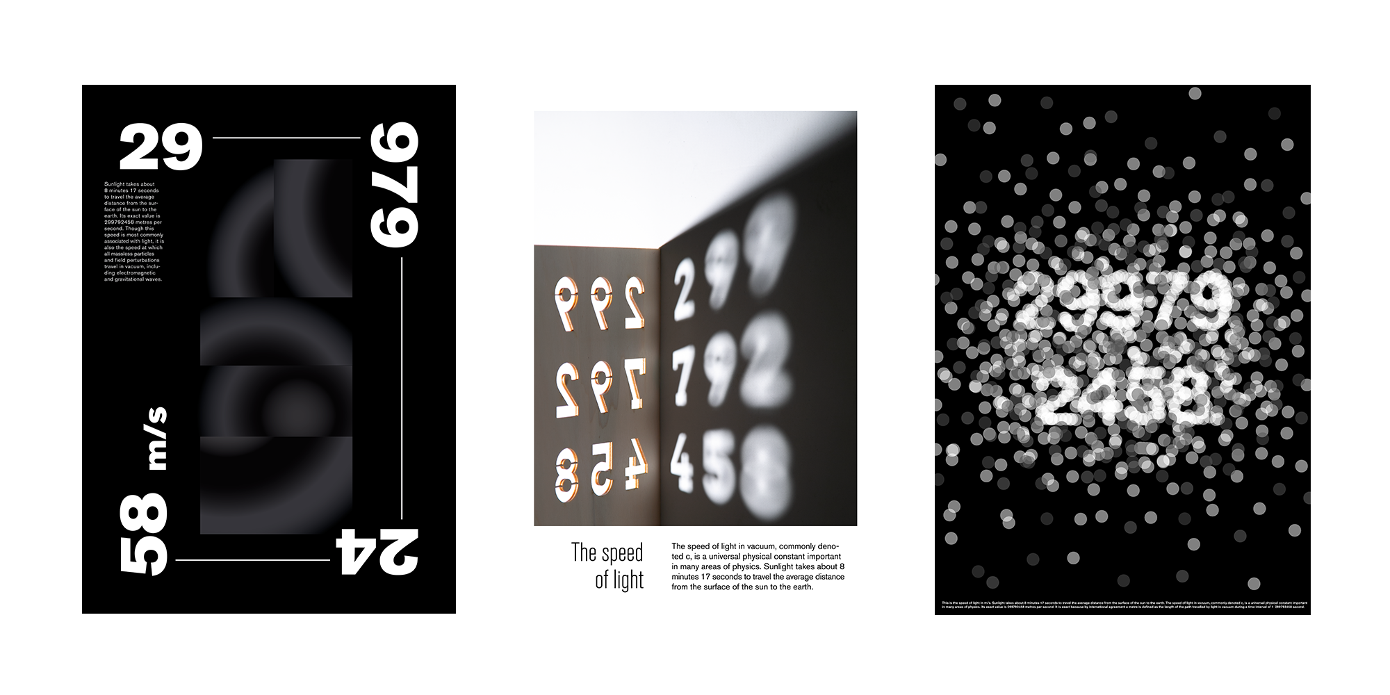 A poster series about speed of light.
