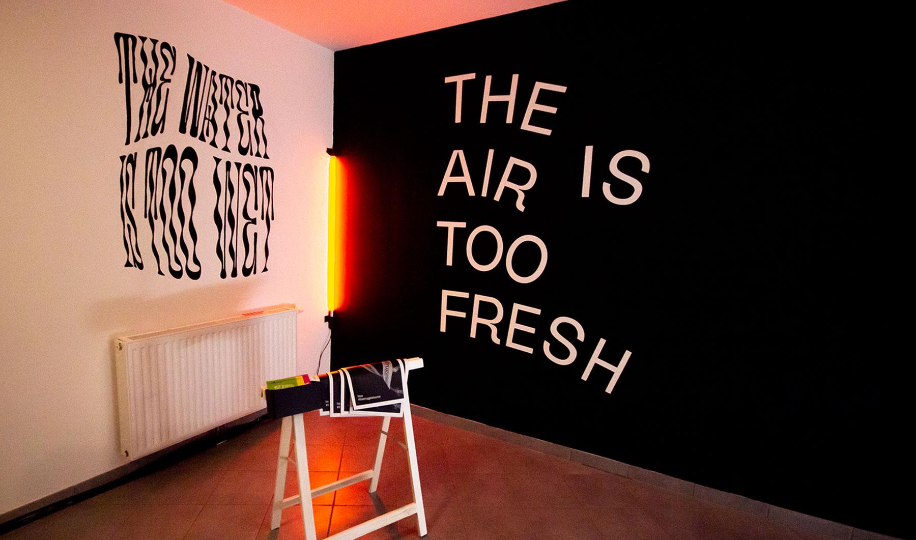 exhibition design at urban art festival Gloria Gietl