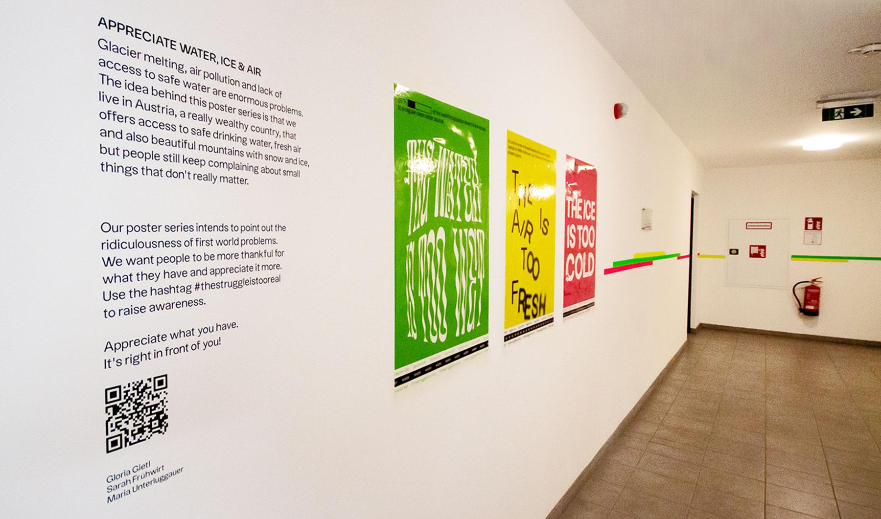 exhibition design at urban art festival by Gloria Gietl